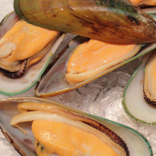 Grünschalmuscheln in 1/2 Schale - Neuseeland - 30/40 - 1 Kg