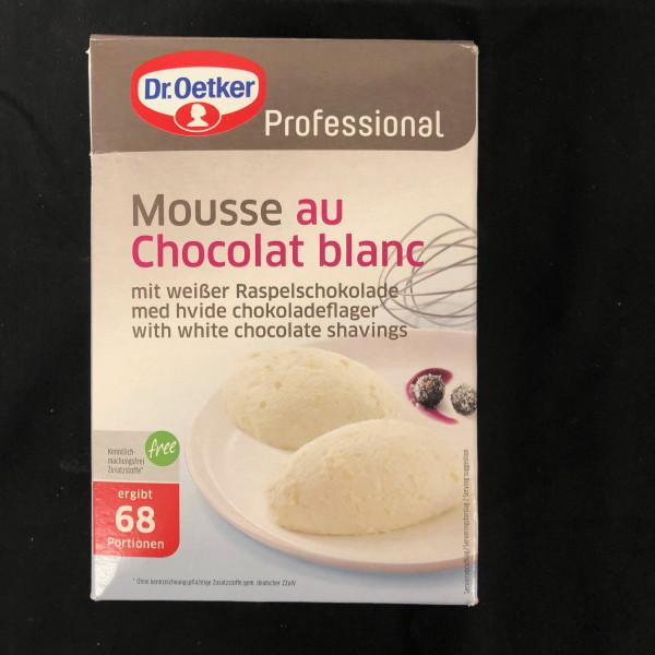 Mousse au Choccolat Blanc, Dr Oetker Professional 68 Portionen - 1 Kg