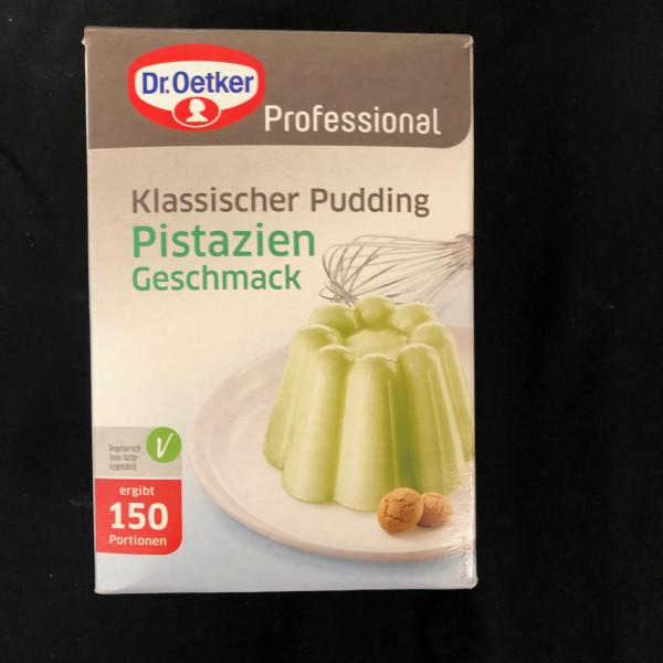 Klassischer Pudding Pistazie, Dr Oetker Professional, 150 Portionen - 1 Kg