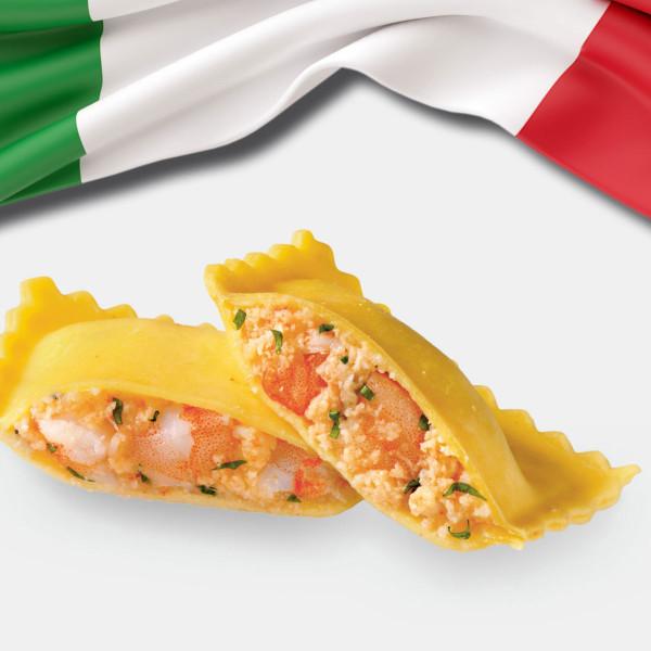 Tortelli mit Krustentieren, Frische Pasta TK 3 Kg