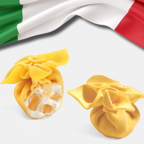 Fiocchi® mit Käse und Birnen, Frische Pasta TK 3 Kg