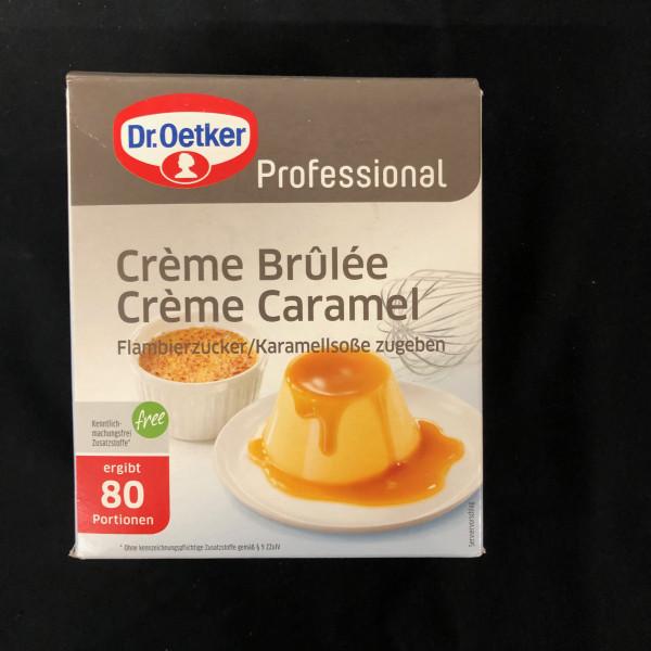 Creme Brulee, Dr Oetker Professional, für 80 Portionen - 1 Kg