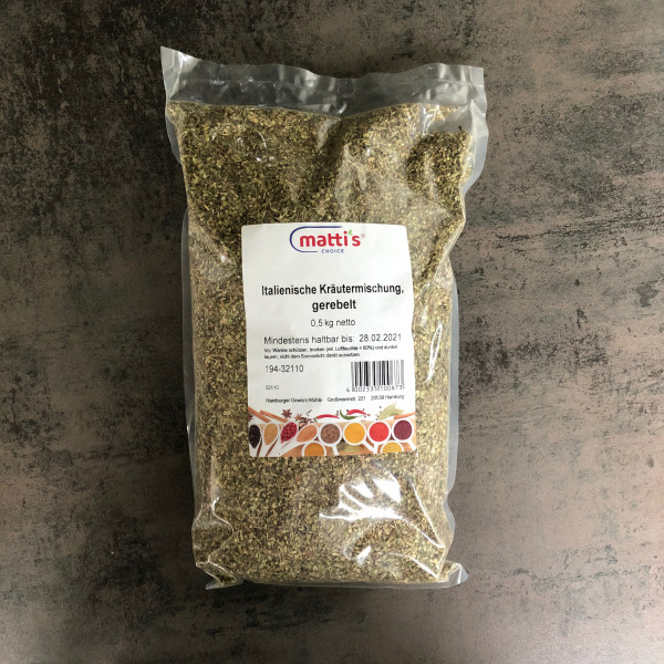 Italienische Kräutermischung, gerebelt 0,5 Kg