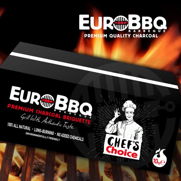 EURO-BBQ CHEFS CHARCOAL BRIQUETTE BLACK.