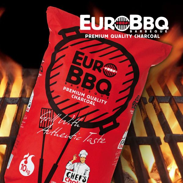 EURO-BBQ CHEFS CHARCOAL HARTHOLZKOHLE RED.