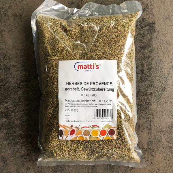 Herbes de Provence, gerebelt, Gewürzzubereitung 0,5 Kg